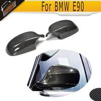 Carbon Fiber Car Side Mirror Covers for BMW 3 Series E90 E91 Convertible 335i 328i 325i 323i 2009 2010 2011