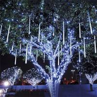 10pcs/set LED Meteor Shower Rain Tubes String Light 50CM Falling Snow Christmas Tree Lights Wedding Party Outdoor Garden Lamp