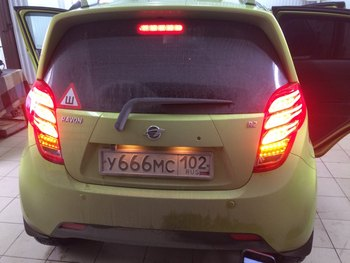 Video display Car tail lights for taillight Spark 2011~2014year LED spark Tail Light Rear Lamp DRL+Brake+Park+Turning Lamp
