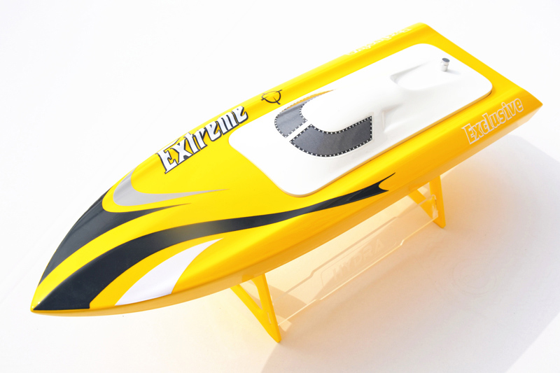 M455 KIT Millet Fiber Glass Prepainted Electric RC Boat Hull Only for Advanced Player Yellow цена