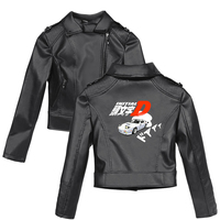 Initial D 2D New print Pink/Black PU Leather Jackets Women Riverdale Serpents Streetwear 2019 hot sales Leather Brand Coat Plus
