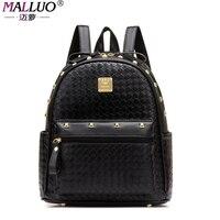 MALLUO Backpacks Women PU Leather Bags Women Bag Backpack 2017 Fashion Mochila Feminina Ladies School Bag