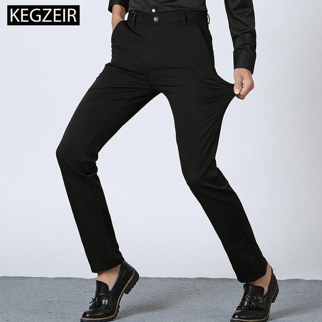 2019 New Brand Spring Winter Skinny Pants Men Fashion Casual Black Men Trousers Stretch Straight Slim Pants For Men Heren Broeke