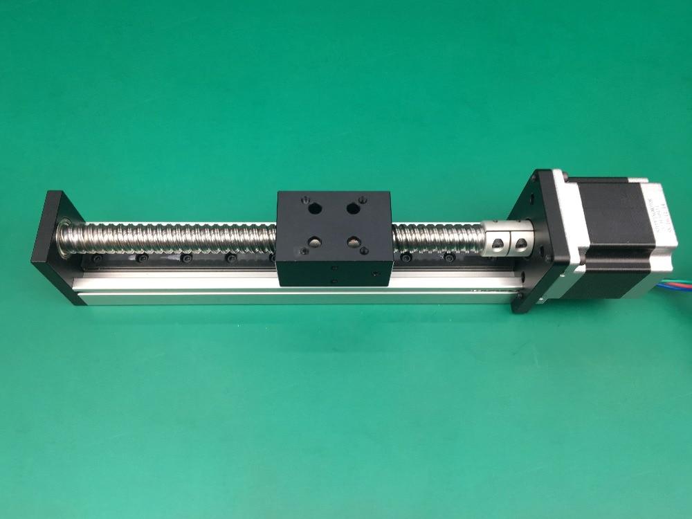 Haute précision course efficace 500mm vis à billes 1204 1605 1610 vis à billes Table coulissante + 1 pc nema 23 moteur pas à pas linéaire - 2