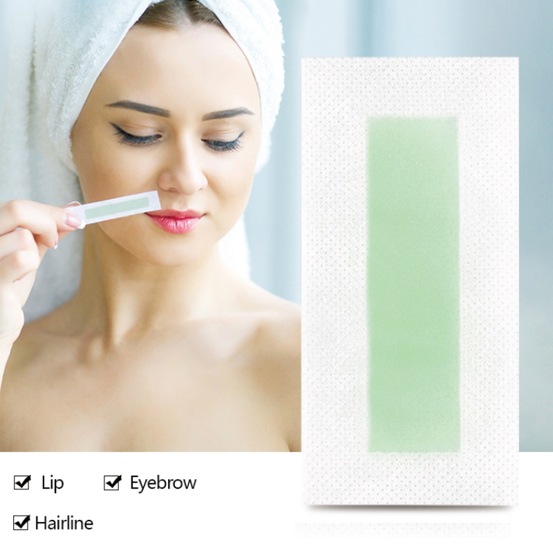 Facial Body Cloth Hair Remove Wax Strips Quickly Remove Fine Hair Moustache Removal Epilator Wax Strip Paper Roll