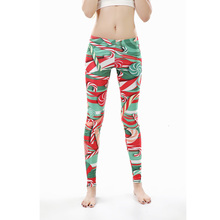 2016 Brand New Fashion Women leggings Fitness Christmas Candy legins leggins for woman
