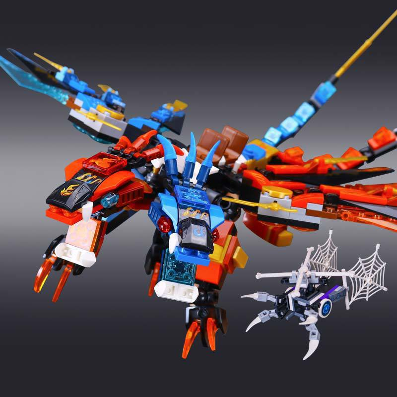 L Models Building toy Compatible with Lego L06049 447PCS Dragon Blocks Toys Hobbies For Boys Girls Model Building Kits