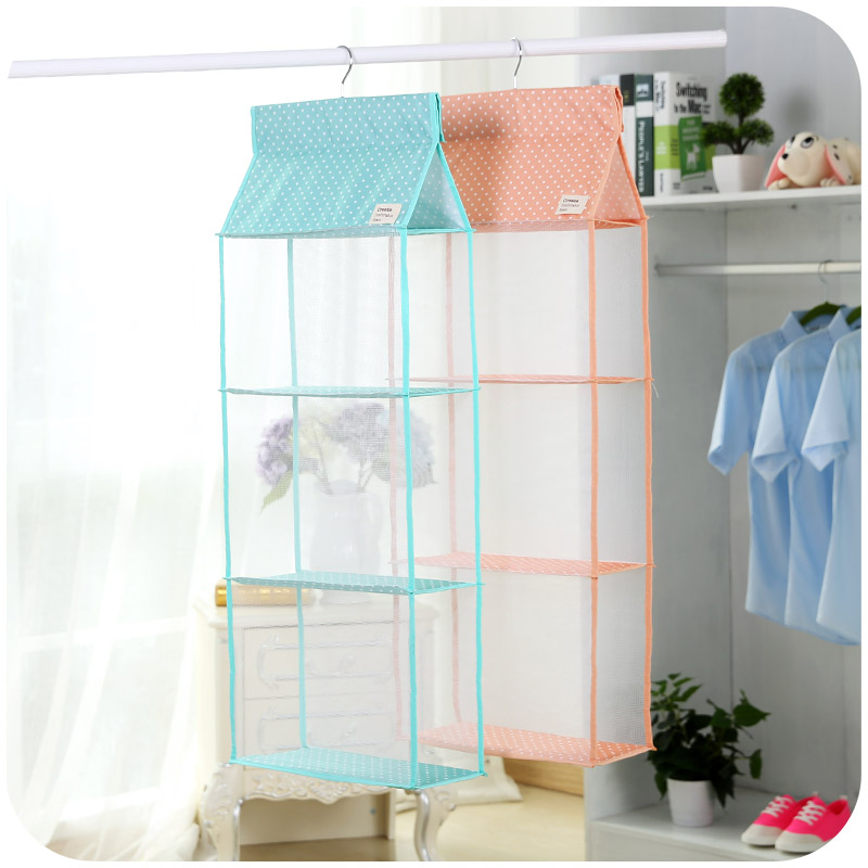 Aliexpress.com : Buy Storage Bag Multi Purpose Folding Wardrobe Closet  Organizer 3/4 Layer Door Ornaments Hang Bags Clothing Container In Pink  Blue From ...