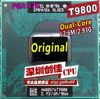 Shipping Free For Intel Cpu Laptop Core 2 Duo T9800 CPU 6M Cache 2 93GHz 1066