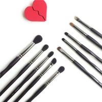 La Beaute Professional Eye Set(10Pcs) Top Quality Goat Hair Eyeshadow Blender Liner Smudger Brow Eye Kit Beauty Makeup Brushes