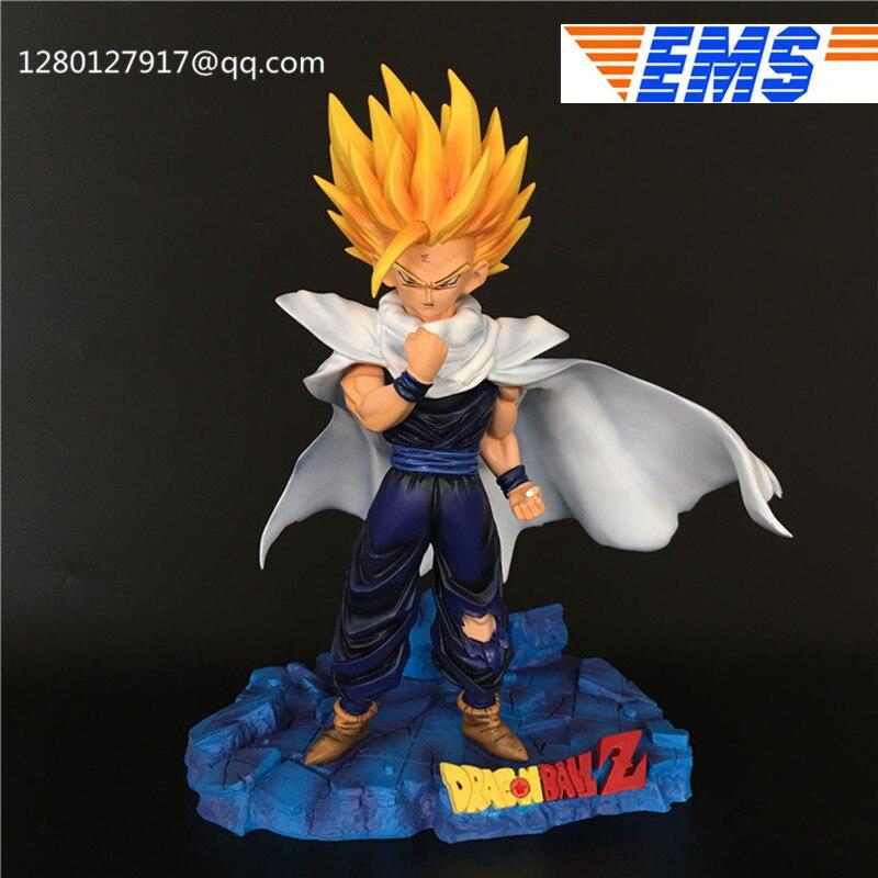 Statue Anime Dragon Ball Z Son Gohan Super Saiyan 2 GK Full-Length Portrait Resin Action Figure Collectible Model Toy Q346