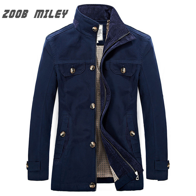 ZOOB MILEY 2016 Jacket Men New Arrival Fashion Autumn Mens Jackets and Coats Cotton Plus Size M-3XL Causal Long Sleeve Outerwear