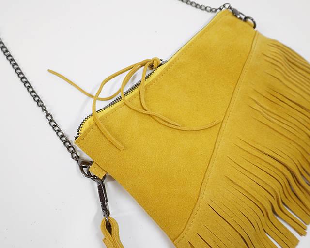 11d3ce92f9 Online Shop LilyHood 2018 Genuine Leather Shoulder Bag For Women Fashion  Feminine Summer Small Suede Tassel Fringe Chain Yellow Hand Bag