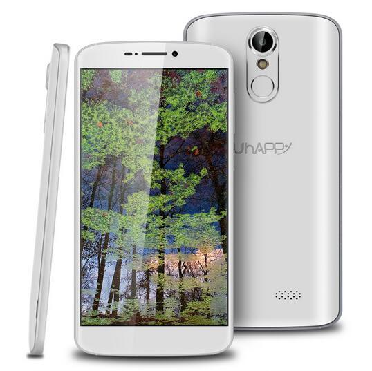 Original UHAPPY UP350 Fingerprint MT6737 Quad Core Android 6.0 2GB RAM 16GB ROM Smartphone 1280x720 5.5 Inch 4G Unlock Cellphone