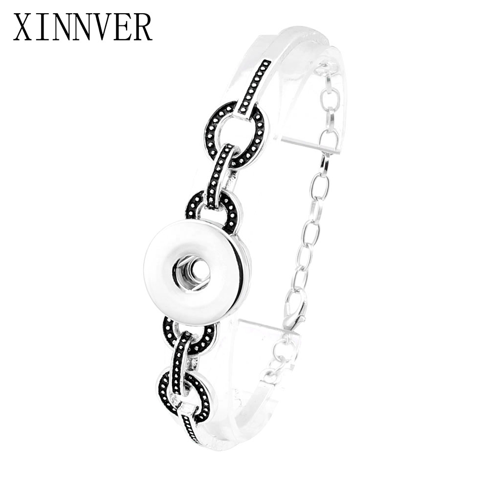 Newest Design Snap Bracelet&Bangles High Quality Charms Bracelets For Women Fit 18mm Xinnver Snaps Button Jewelry ZE218 snap button jewelry