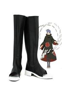 Image 1 - Anime NARUTO Konan Cosplay Schuhe Stiefel Nach Maß