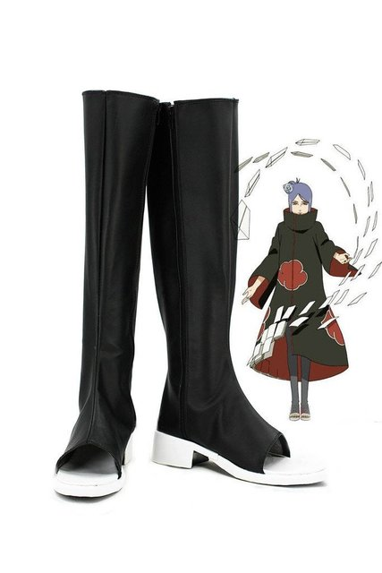 Anime NARUTO Konan Cosplay Shoes Boots Custom Made
