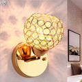 Настенный светильник  простой  современный  с кристаллами  для спальни  прикроватный  для отеля  360 градусов вращения  OLU-0049