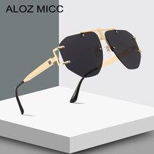 ALOZ MICC Oversized Rimless Sunglasses Women 2019 NEW Brand Design Vintage Square Sun Glasses Men Irregular Eyewear UV400 Q650