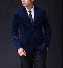 S-4XL autumn Men's brand suit business casual party suit male slim corduroy suit jacket plus size overcoat free shipping