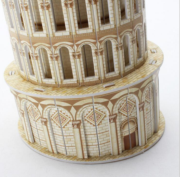CubicFun LED 3D Puzzle Papiermodell Jigsaw Schiefe Turm von Pisa Italien L502H Puzzles & Geduldspiele