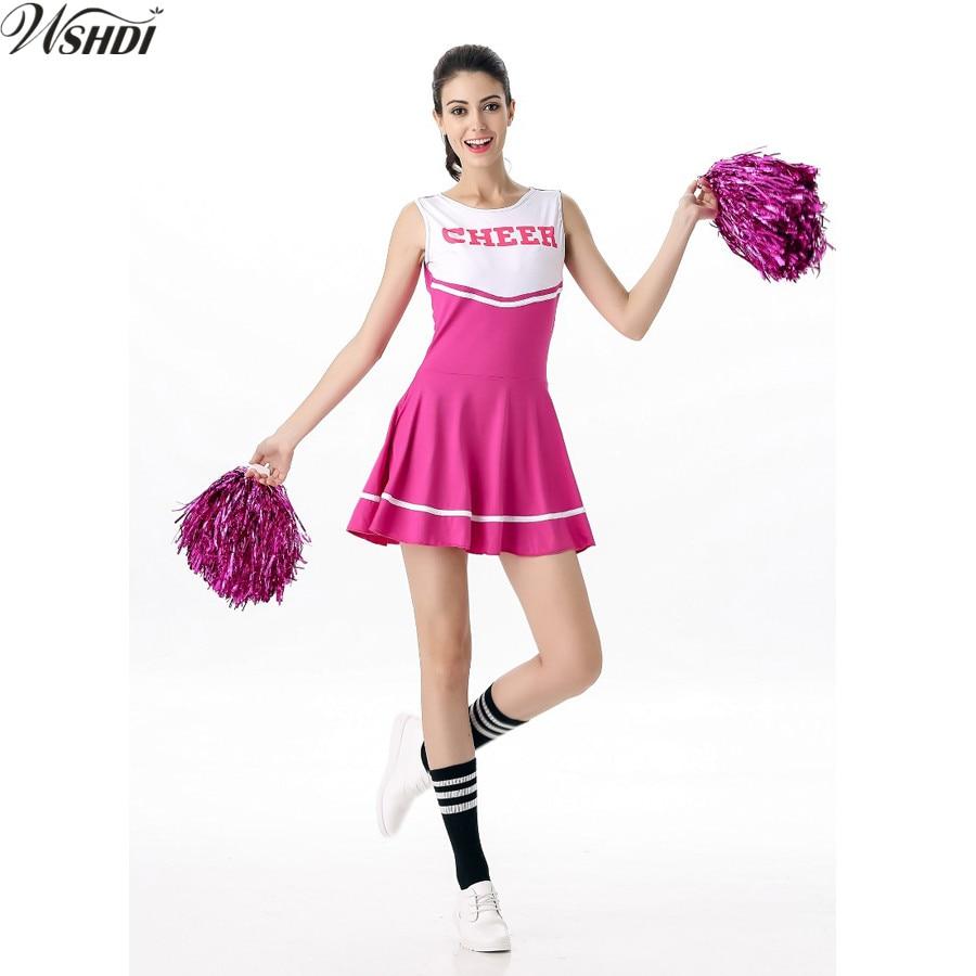 6 Color Hot Sale Sexy Women High School Cheerleader -7287