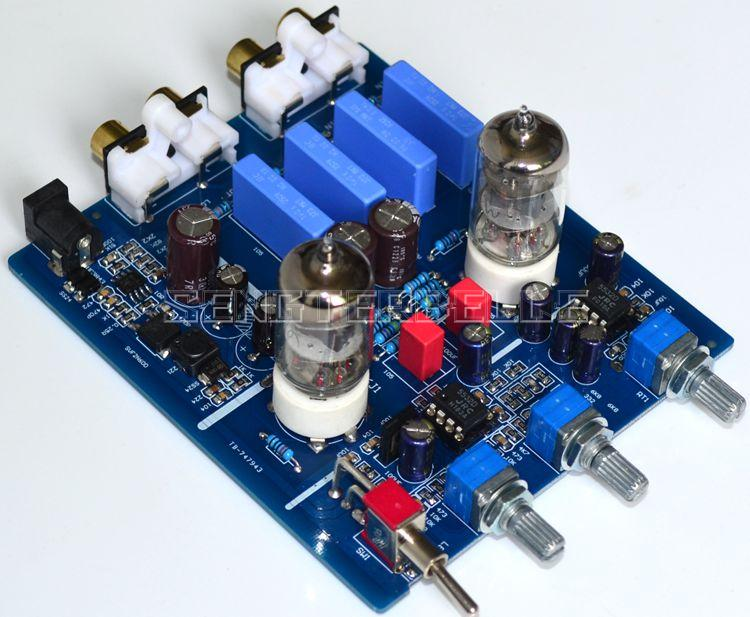 2018 New 6J1 Tube Preamplifier Board HiFi Volume Adjustment Pre-Amp Board assembled upgraded n5 preamplifier board hifi amp board with 2134 opa