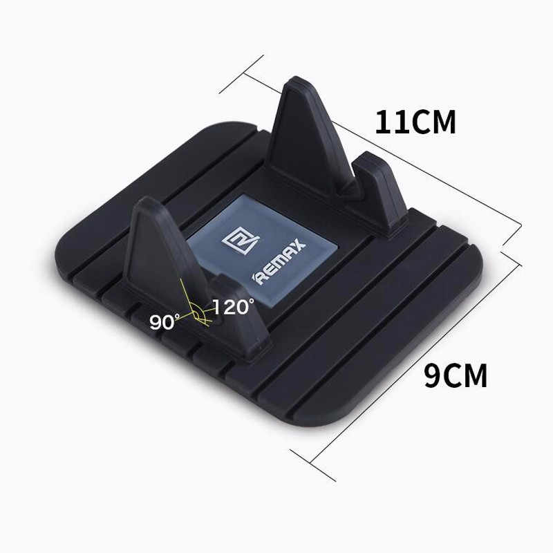 Remax Lembut Silicone Mobile Phone Car Holder Mount Stand Bracket Dashboard Anti-Slip GPS Mat Desktop untuk iPhone 5 S 6 7