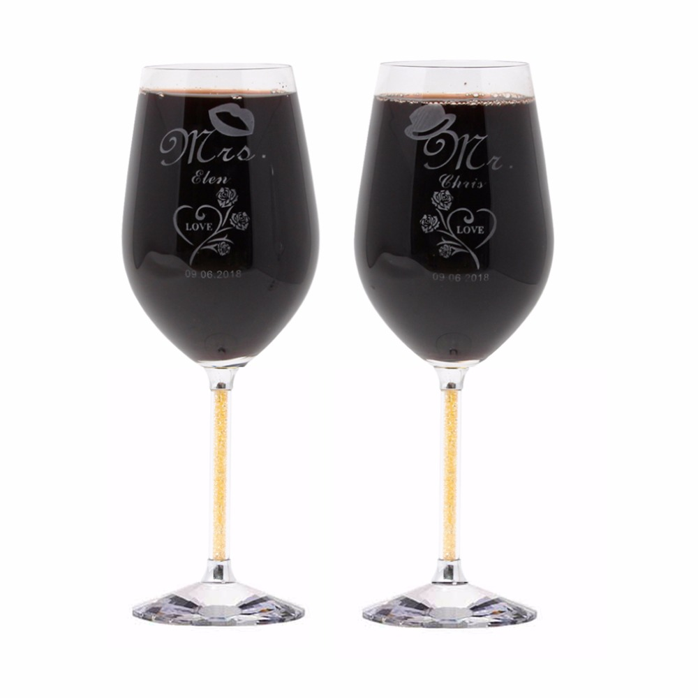cool wine glasses keytrend 470ml personalized engraved wedding wine glass 29996