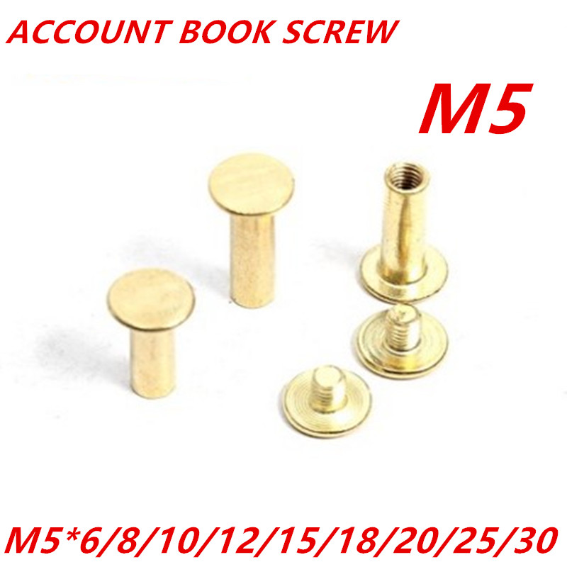20pcs/lot diameter 5mm ,length 6/8/10/12/15/18/20/25/ Brass Plated Account Books Screw,Books Butt Screw, Photo album screw bigbang alive 2012 making collection repackage 2 photo books 150pages sticker release date 2013 5 22 kpop album