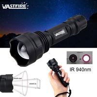 VASTFIRE IR 940nm 7W Night Vision Infrared Zoom LED ZOOM Hunting Flashlight Light To be used with Night Vision Device