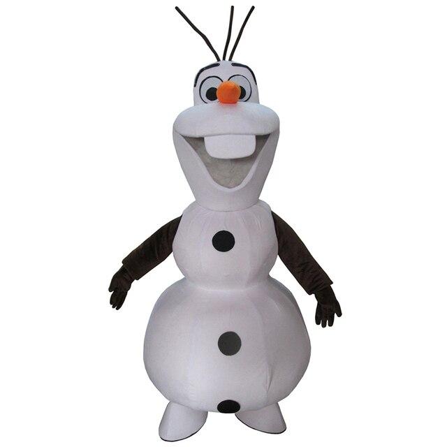 High Quality Olaf Mascot Costume Snowman Fancy Dress Adult Free Shipping