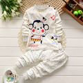 Pijamas niños pijamas de los muchachos de Los Niños ropa interior de algodón de cuello Redondo botón de hombro Privada traje Pijamas de Los Niños 20 #
