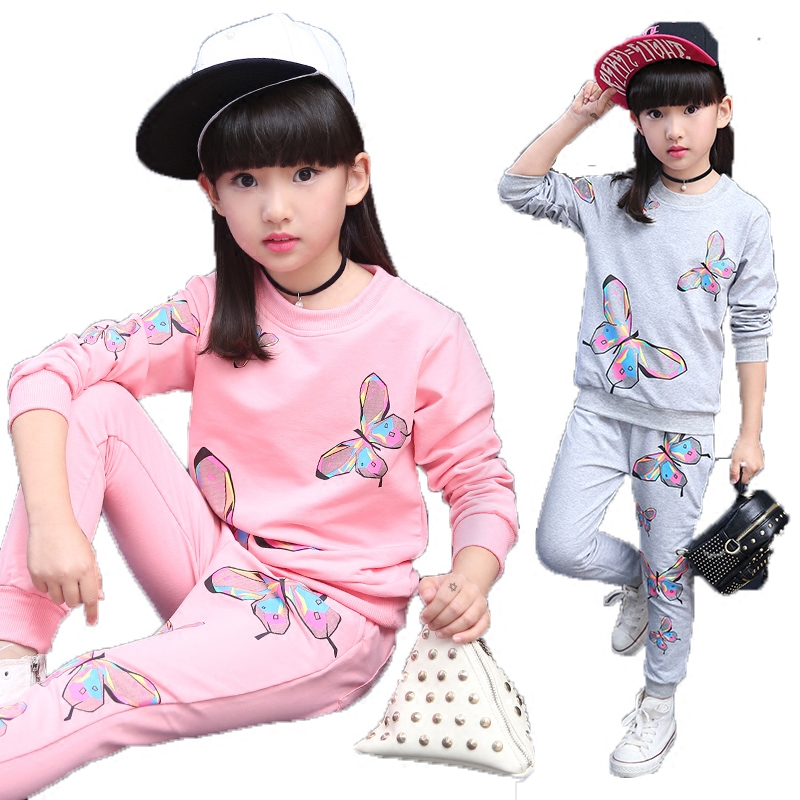 GirlsSpring and Autumn Suits Two-piece Set 46 12-year-old 201 New Fashion Set 8 Autumn Cotton Sports Set Korean Version 9GirlsSpring and Autumn Suits Two-piece Set 46 12-year-old 201 New Fashion Set 8 Autumn Cotton Sports Set Korean Version 9