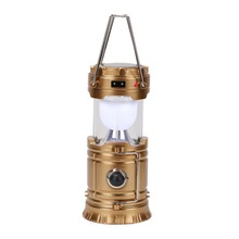 Big Collapsible Solar Portable Camping Lantern LEDs Rechargeable Tent Hand Lamp for Hiking Emergencies Lighting