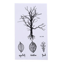 1 Pcs Vintage Design Waterdichte Tijdelijke Boom Blad Tattoo Stickers Arm Been Body Art Verwisselbare Fashion Tatto Stickers(China)