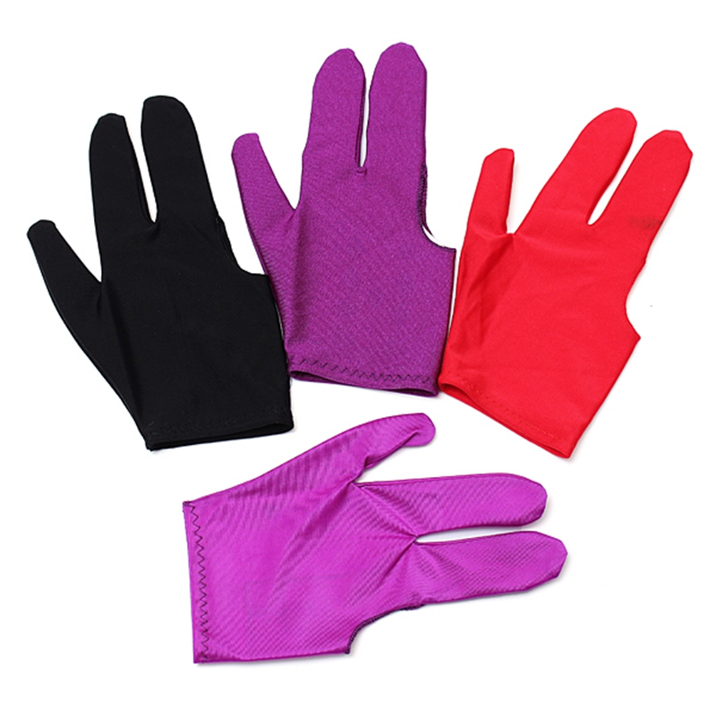 NEW ARRIVAL 1pcs Snooker Nylon Billiard Pool Table Cue Shooters 3 Fingers Gloves Stretchable