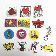 14pcs keith haring Mixed Stickers For Snowboard Laptop Luggage Car Fridge Car Styling Vinyl Decal Home