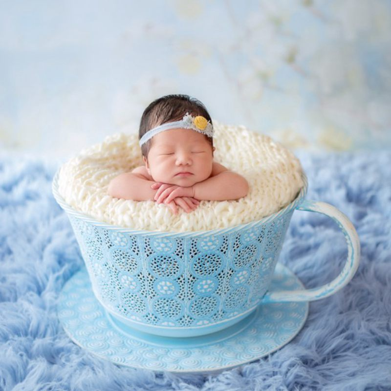 Newborn Tea Cup Photo Props,Boutique Newborn Fotografia Bowl Brand Baby Seats,Baby Shower Gift,#P0407
