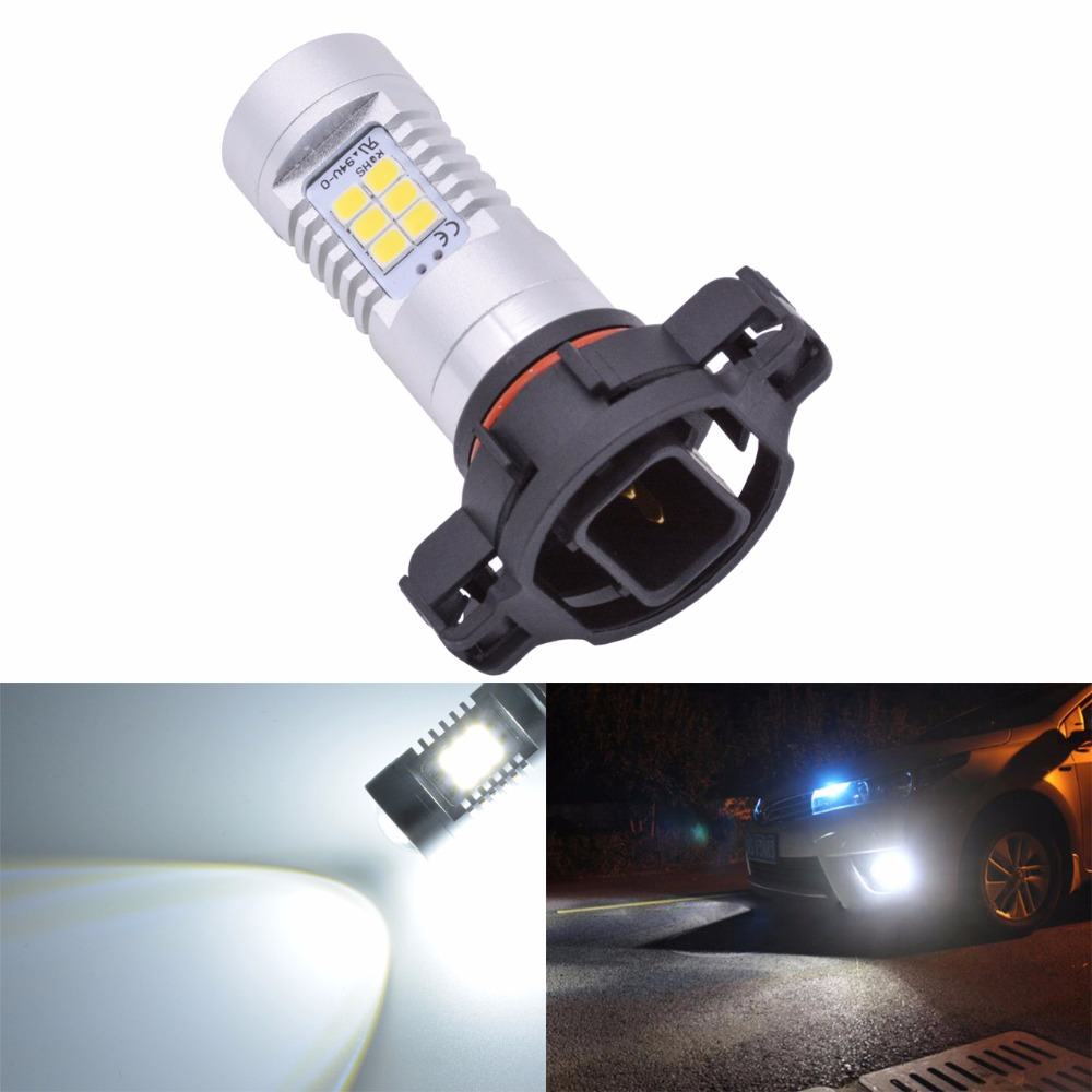 1pcs H16 Fog Light 6500K Xenon White 1440Lm Led Bulbs For Car DRL Lamp with Canbus Decoder Error Free Load Resistors Harness Set 1pcs car led dc12v h8 fog lamp bright led light bulbs drl 33 5630 smd with lens xenon white ice blue yellow 2z9