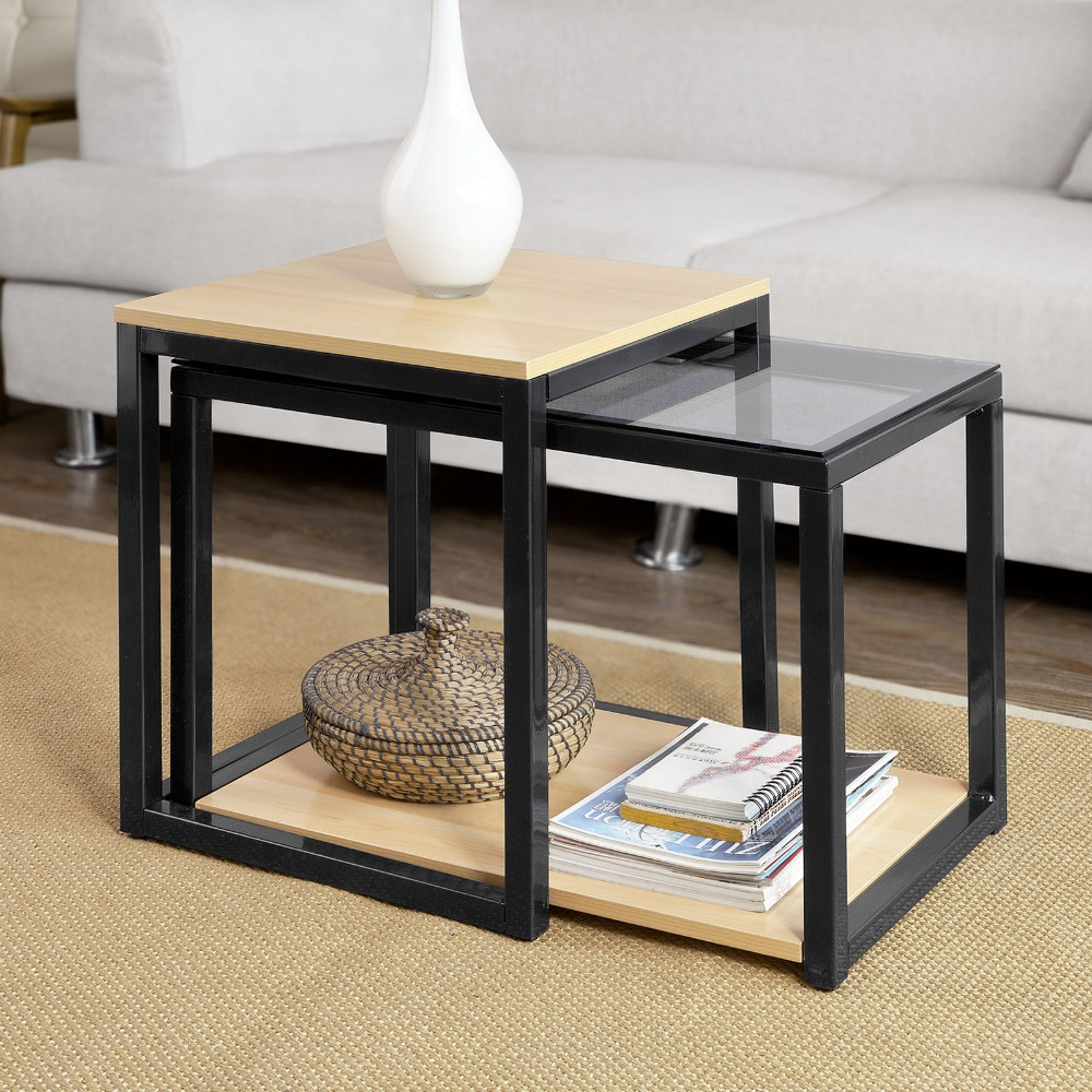 Modern Nesting 2 Set Coffee Table  2