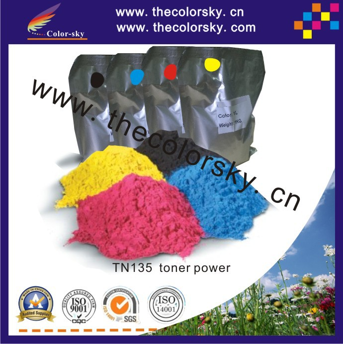 (TPBHM-TN135) premium laser color toner powder for Brother DCP9040CN DCP9040 DCP-9044CN DCP-9044 kcmy 1kg/bag/color Free fedex