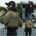Hong Kong Air curto boné de beisebol carta bordado camisolas Coreano Do Vintage 2017 primavera e no outono solta cardigan hoodies jacket