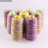 ZOTOONE 3000Y 40S/2 Spool 100% Polyester Sewing Thread Colorful Embroidery Line Threads Jeans for Sewing Thighs Machine Yarn C
