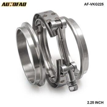 """Turbocompresor de escape de 2,25 """", abrazadera Universal de banda en V, Kit de brida AF-VKG225"""