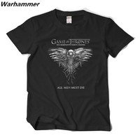 Games Of Thrones Matching 2016 T Shirt ALL MEN MUST DIE O Neck Fine Cotton Best