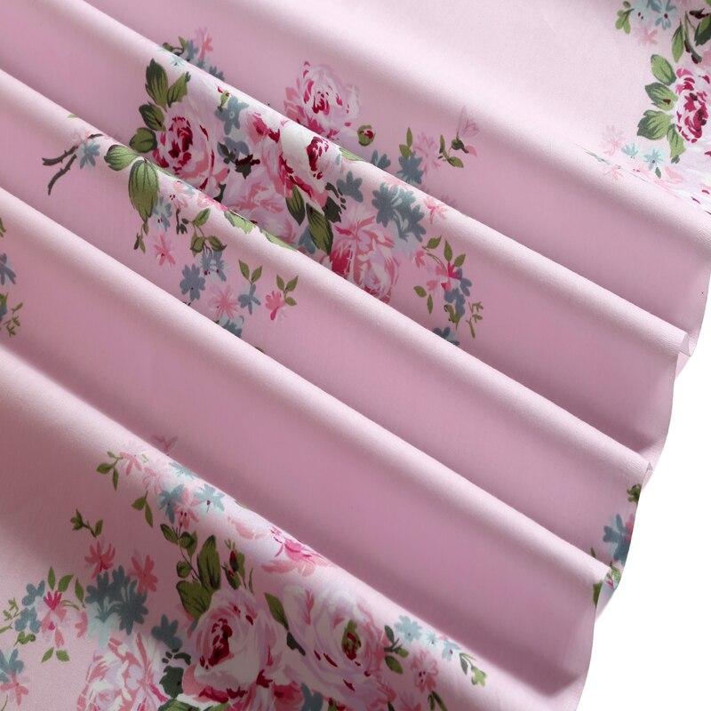 【Изящные 50x160 см розовый цветок 100% хлопок Ткань для DIY ...