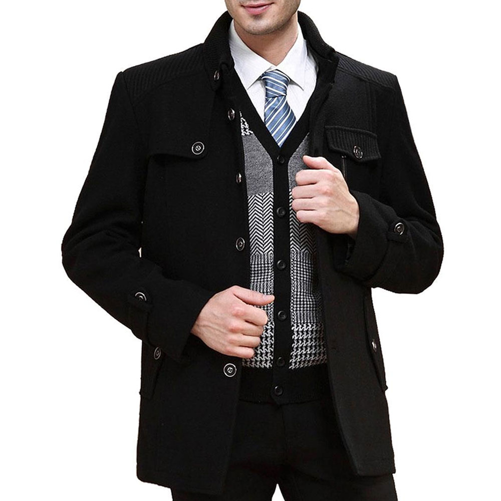 Mâle Qualité Noir Vestes Haute Hiver Automne Mode Pardessus Occasionnel Hommes De Slim Chaud Laine gris Veste Survêtement Manteau Manteaux Fit OUdCUwq