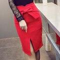 2016 nova moda bowknot coringa edição han sexy feminino hip saias Saias Plus Size Saia Lápis profissional 157B 25