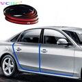 Universal Car Puerta Guardias Edge Moldura de Gaza Protección Contra Arañazos Protector Para Skoda Superb Yeti Octavia a5 a7 Fibai